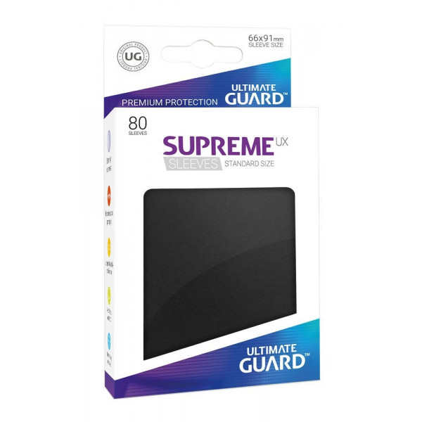 FUNDAS COLOR NEGRO 66x91 mm (80 uds.) ULTIMATE GUARD SUPREME UX