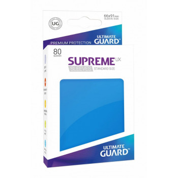 FUNDAS COLOR AZUL REAL 66x91 mm (80 uds.) ULTIMATE GUARD SUPREME UX
