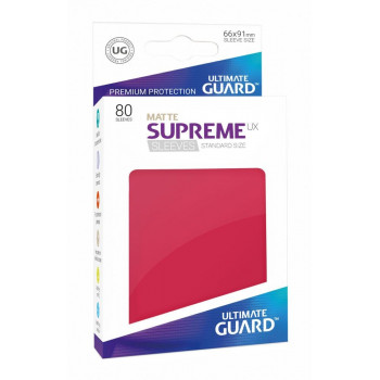 FUNDAS COLOR ROJO MATE 66x91 mm (80 uds.) ULTIMATE GUARD SUPREME UX