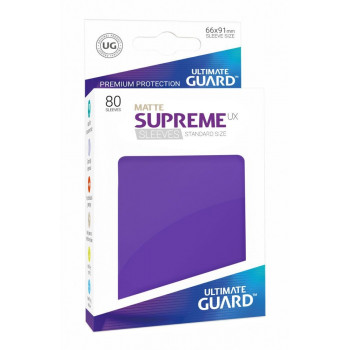FUNDAS COLOR VIOLETA MATE 66x91 mm (80 uds.) ULTIMATE GUARD SUPREME UX