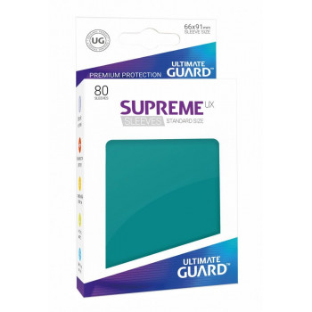 FUNDAS COLOR GASOLINA AZUL 66x91 mm (80 uds.) ULTIMATE GUARD SUPREME UX
