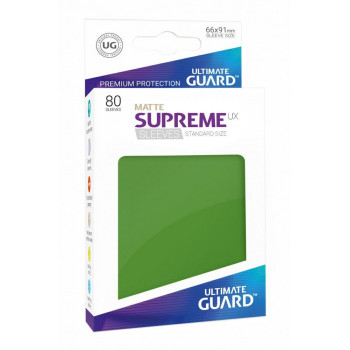 FUNDAS COLOR VERDE MATE 66x91 mm (80 uds.) ULTIMATE GUARD SUPREME UX