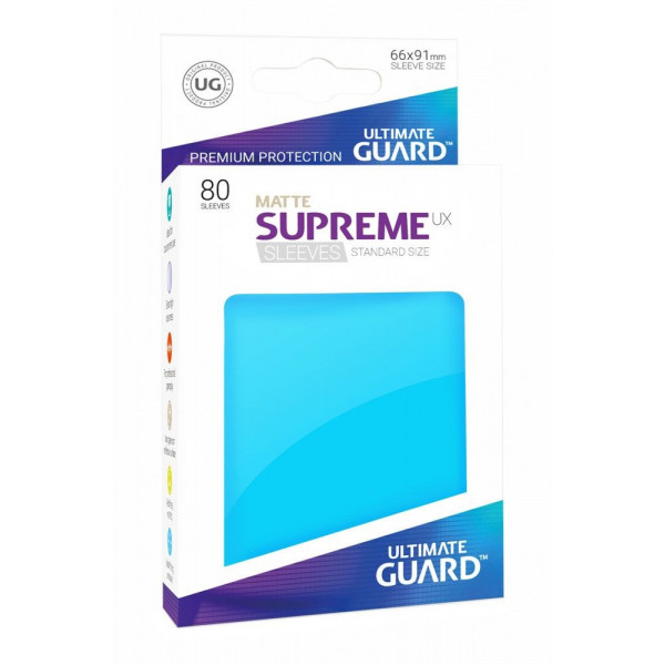 FUNDAS COLOR AZUL CELESTE MATE 66x91 mm (80 uds.) ULTIMATE GUARD SUPREME UX