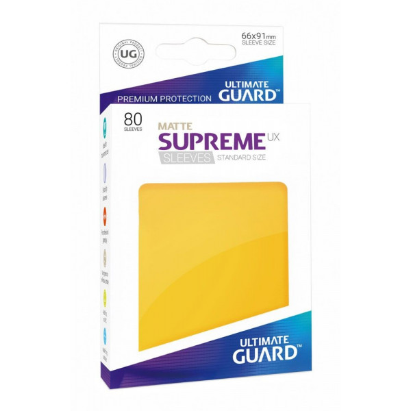 FUNDAS COLOR AMARILLO MATE 66x91 mm (80 uds.) ULTIMATE GUARD SUPREME UX