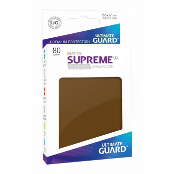 FUNDAS COLOR MARRON MATE 66x91 mm (80 uds.) ULTIMATE GUARD SUPREME UX