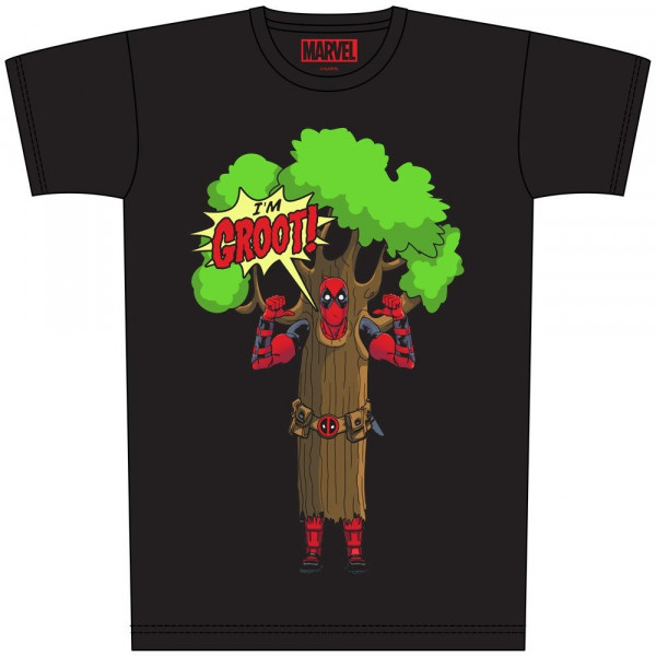 CAMISETA TALLA L. I AM GROOT. DEADPOOL