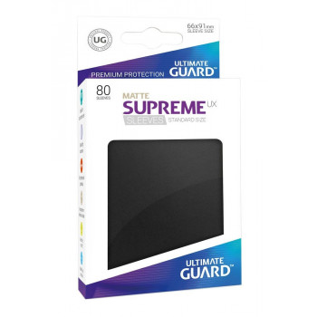 FUNDAS COLOR NEGRO MATE 66x91 mm (80 uds.) ULTIMATE GUARD SUPREME UX