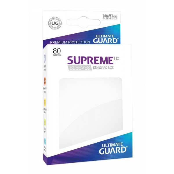 FUNDAS COLOR BLANCO MATE66x91 mm (80 uds.) ULTIMATE GUARD SUPREME UX