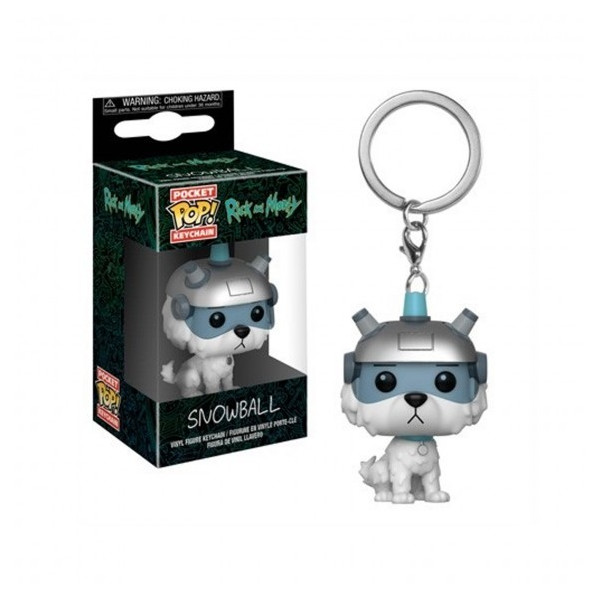 FUNKO POCKET POP! LLAVERO SNOWBALL. RICK Y MORTY