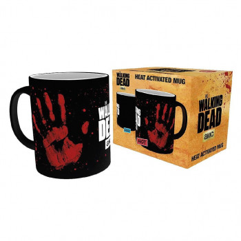 TAZA SENSITIVA AL CALOR MANO SANGRE. THE WALKING DEAD
