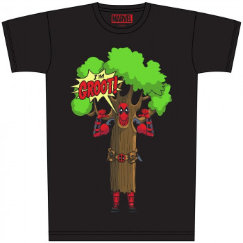 CAMISETA TALLA XL. I AM GROOT. DEADPOOL