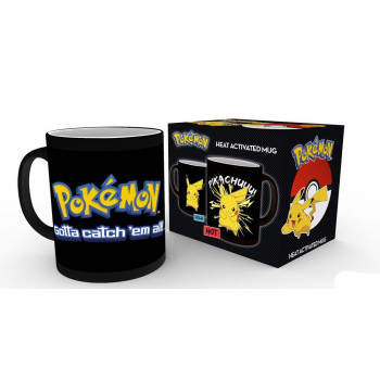 TAZA SENSITIVA AL CALOR PIKACHU. POKEMON