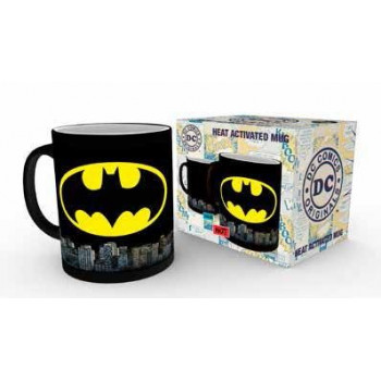 TAZA SENSITIVA AL CALOR BATMAN LOGO. DC COMICS