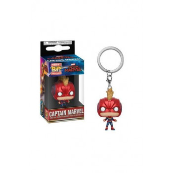 FUNKO POCKET POP! LLAVERO CAPTAIN MARVEL (WITH HELMET). CAPITANA MARVEL