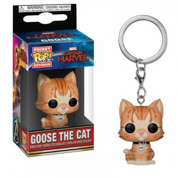 FUNKO POCKET POP! LLAVERO GOOSE THE CAT. CAPITANA MARVEL
