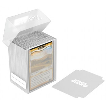 DECK CASE 80+ CAJA DE CARTAS TAMAÑO ESTANDAR TRANSPARENTE. ULTIMATE GUARD