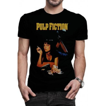 CAMISETA TALLA M. POSTER CLASICO. PULP FICTION