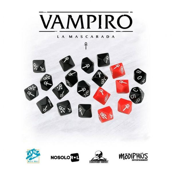 SET DE 13 DADOS - VAMPIRO : LA MASCARADA 20º ANIVERSARIO
