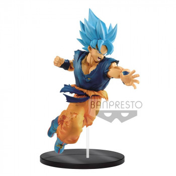 FIGURA SON GOKU SUPER SAIYAN GOD ULTIMATE SOLDIERS 20 cm. DRAGON BALL SUPER