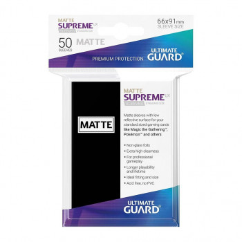 FUNDAS COLOR NEGRO MATE 66x91 mm (50 uds.) ULTIMATE GUARD SUPREME UX
