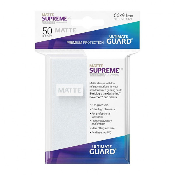 FUNDAS COLOR FROSTED MATE 66x91 mm (50 uds.) ULTIMATE GUARD SUPREME UX
