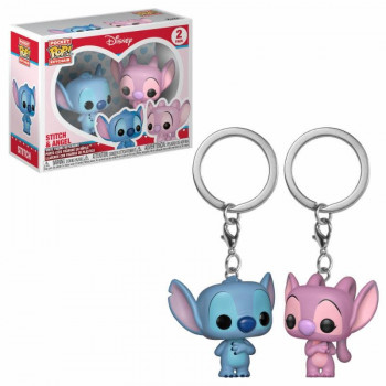 PACK DE 2 FUNKO POCKET POP! LLAVEROS LILO & ANGEL. LILO & STITCH DISNEY