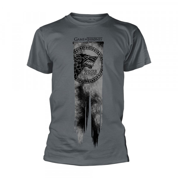 CAMISETA TALLA M. BANDERA STARK WINTER IS COMING. JUEGO DE TRONOS