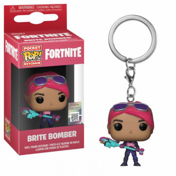 FUNKO POCKET POP! LLAVERO BRITE BOMBER. FORTNITE