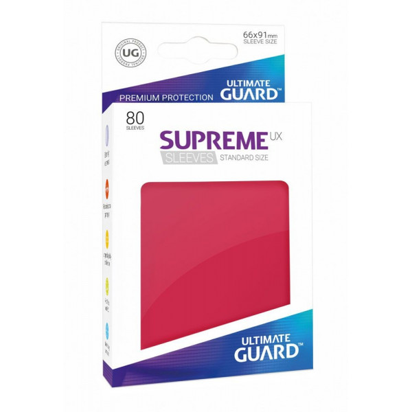 FUNDAS COLOR ROJO 66x91 mm (80 uds.) ULTIMATE GUARD SUPREME UX