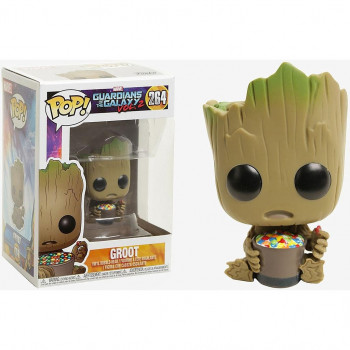 FUNKO POP! 264 GROOT & CANDY BOWL (SPECIAL EDITION). GUARDIANES DE LA GALAXIA VOL.2
