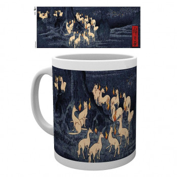 TAZA NEW YEARS EVE FOXFIRE BY UTAGAWA HIROSHIGE. JAPANESE ART