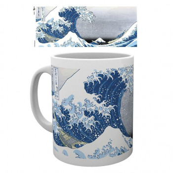 TAZA GREAT WAVE BY UTAGAWA HIROSHIGE. JAPANESE ART