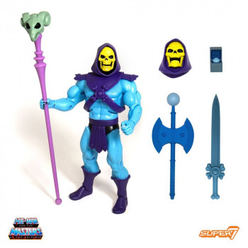 FIGURA ULTIMATE SKELETOR CLUB GRAYSKULL SUPER7 18 cm. MASTERS OF THE UNIVERSE CLASSICS