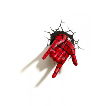 LAMPARA 3D LED SPIDERMAN HAND. ULTIMATE SPIDERMAN