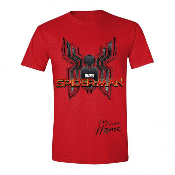 CAMISETA TALLA M. EMBLEMA DIGITAL. SPIDERMAN LEJOS DE CASA