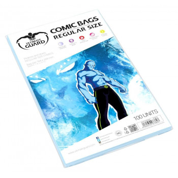 FUNDAS PARA COMICS TAMAÑO REGULAR 184x268mm (100 UNIDADES). ULTIMATE GUARD