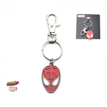LLAVERO ROSTRO METAL. SPIDERMAN