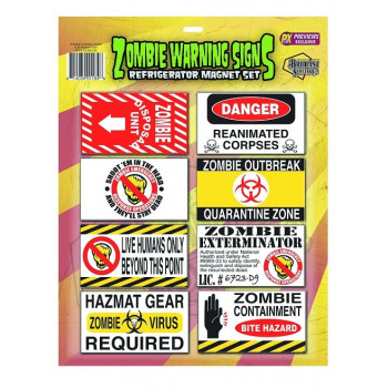 ZOMBIE WARNING SIGNS IMANES
