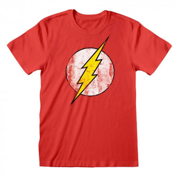 CAMISETA TALLA M. LOGO FLASH. DC COMICS