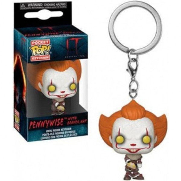 FUNKO POCKET POP! LLAVERO PENNYWISE WITH BEAVER HAT. IT 2 (STEPHEN KING)