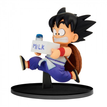 ESTATUA SON GOKU MILK BWFC NORMAL COLOR VER. PVC 11 cm. DRAGON BALL