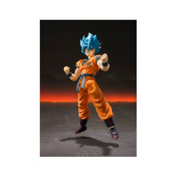 FIGURA GOKU SUPER SAIYAN GOD SH FIGUARTS 14cm. DRAGON BALL SUPER BROLY