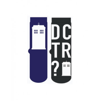 PACK DE 2 PARES DE CALCETINES TARDIS. DOCTOR WHO