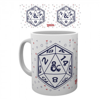 TAZA D20. DUNGEONS & DRAGONS