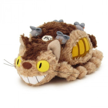 PELUCHE MEDIUM FLUFFY CAT BUS MI VECINO TOTORO. STUDIO GHIBLI