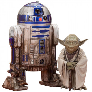 PACK DE 2 ESTATUAS YODA & R2-D2 DAGOBAH VERSION ARTFX. STAR WARS