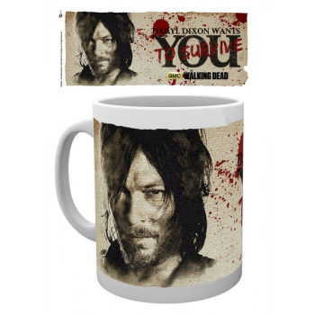 TAZA DARYL DIXON WANTS YOU TO SURVIVE. THE WALKING DEAD