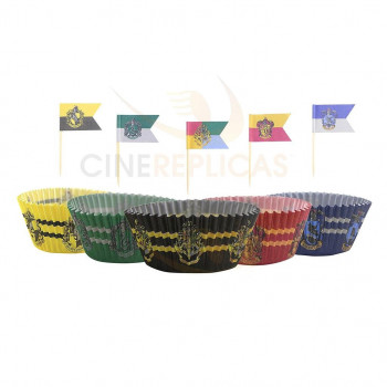CAPSULAS PARA MUFFINS CON TOPPERS (100 UDS.) HARRY POTTER