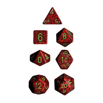 SET 7 DADOS MOTEADOS CHESSEX STRAWBERRY CHX25304