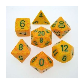SET 7 DADOS MOTEADOS CHESSEX LOTUS CHX25312